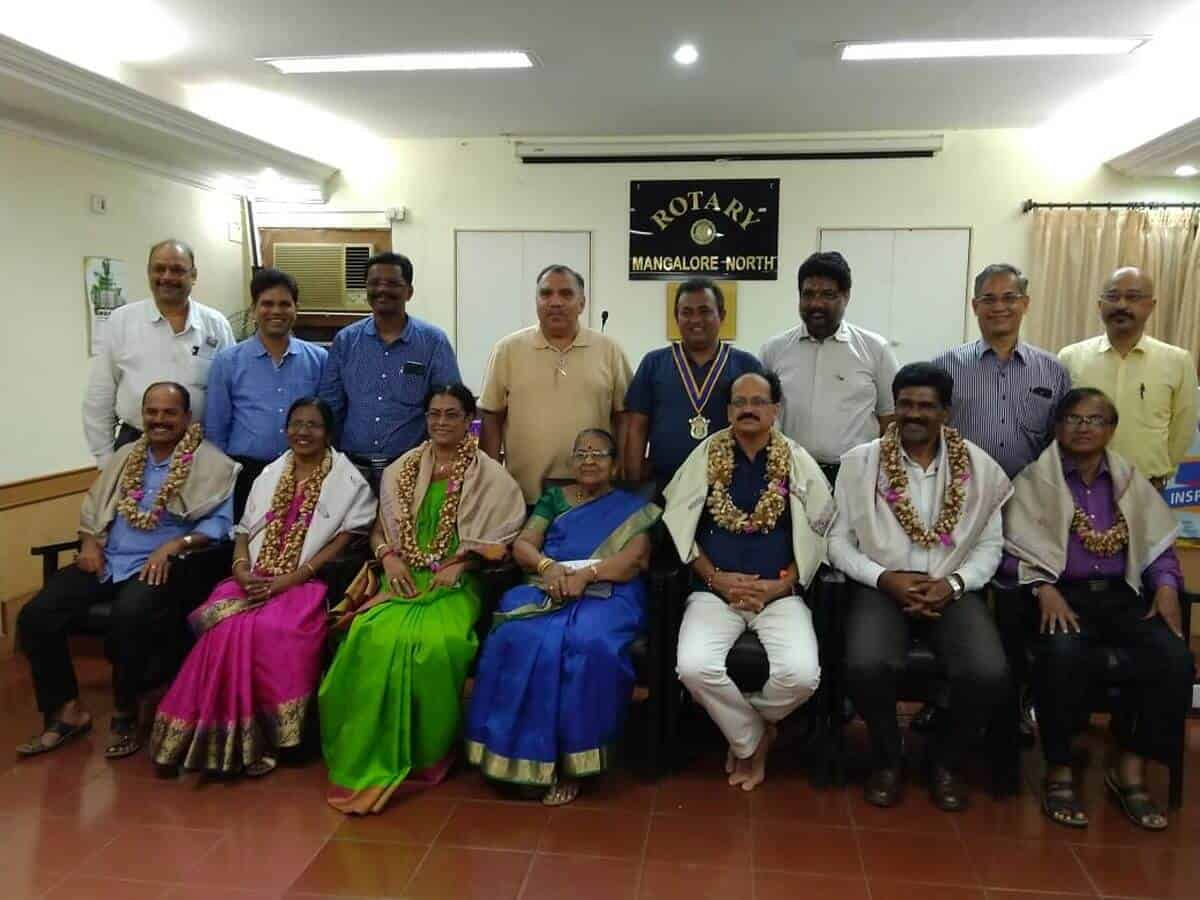 Felicitation of Retired Teachers by Rotary club of Mangalore North